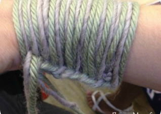 Arm Knitting Casting On