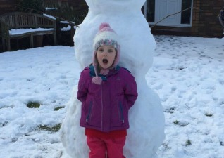 White Christmas Snowman