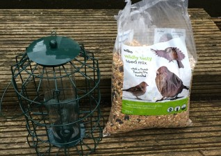 Wilko Wild Bird Blogger Bird feeder and seed