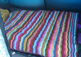 Attic 24 Ripple Blanket taken camping