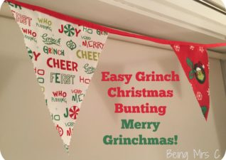 Grinch Christmas Bunting #Grinchmas