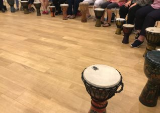 A WI drumming workshop