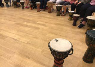 A WI drumming workshop